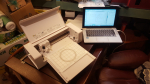 The name of my machine is Silhouette Curio. A cutter which can do several things, not only cut but also draw, stipple, emboss and a few more. It has two heads so two things can be done at the same time without changing heads (tools like knife etc).  ....