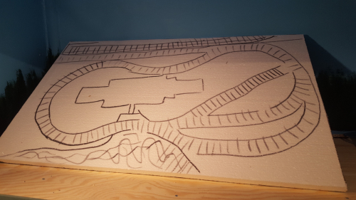 140027  -- ready for cutting out hills and valleys in the foam