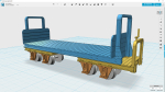 O&K bogie flat wagon which once ran on the Ödeshög wire factory 600mm gauge industrial line. Needs bogies to complete.  Don´t forget the jars for chemical transport, available under the Accessories section.