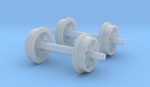 typical swedish narrow gauge wheels w open spokes. First wheels in my 0m scale series!