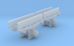 Typical swedish narrow gauge axleboxes, for 1/45 scale! Works for both 0m and 0n3.