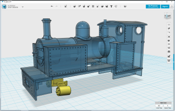 Big day today! All RAR steam locomotives now has latest cylinders included and also uploaded to Shapeways. That finishes this adventure. Ian Bull has teased me with a wonderful picture of the Coehorn loco, which I also started but not sure yet when it wil