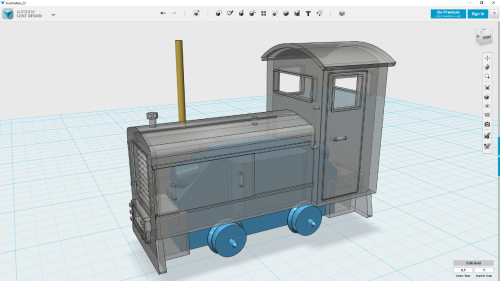 3D model  -- showing Halling motorbogie inside