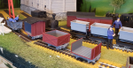I was not happy with the red paint on the box wagons so they got repainted last night. The red paint will however be great on the powder wagon. The tankers on last image needs some sanding. Often this does not show until first paint is on, like here.