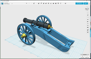 A bit odd to start this new section with an exception, but the cause is simply lack of the correct measures for a Carolean cannon. This is instead a french cannon from the 1800s I found the measures for, to start with until I get the swedish ones. The..
