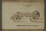 Möllerheim bullet wagon. The 3-pdr cannons did fire one bullet per minute, in fact faster then muskets from that time, so a lot bullets were needed. This model is made from estimated measures, only the length of the box is known. Above first picture is..