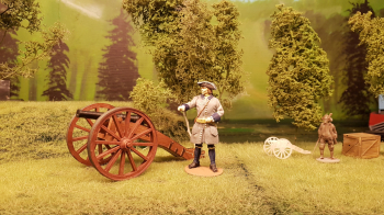 Assembled and painted both the cannon and my new carolean gunner this afternoon. To have somewhere to place them I made this quick first diorama. I will do much more advanced ones later on.