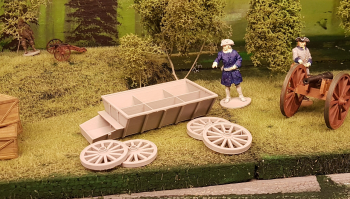 Started printing the Carolean supply wagon or rustvagn as we say in swedish. Last picture shows the second new carolean gunner, a rammer which cleans the barrel. This and the first one on the photos will soon be available in several scales from SW...