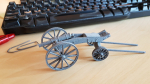 Prepared a 54mm (1:32) scale version of the Carolean 3-pdr cannon a while ago, including uploading to Shapeways. Doing so I noticed they added a new material called