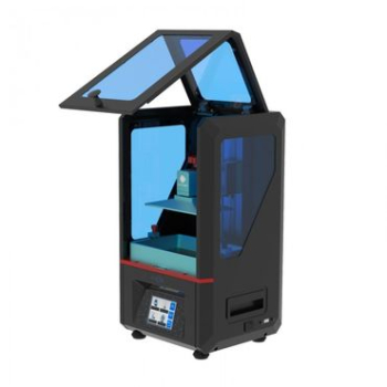 I just ordered my first resin printer, an AnyCubic Photon, already a very common model on the market. It has a very small printbed, but the quality is great, and there is not really any other bigger model on the market now which is between the 370 euro...