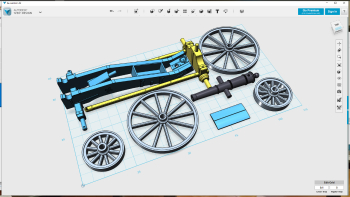 Seems I got back a bit energy today cause I also continued preparing wagon drawings for Shapeways! In time all wagons will be there, so far only the cannon is. Also started preparing them to be printed on the photon in due time. Plus found two...