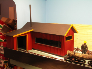 This month I have finished the sawmill and started on first factory building, the assembly building.