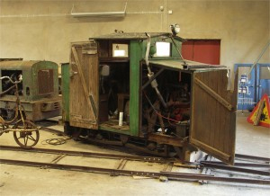 the famous Hartelius locomotive, a petrol electric