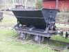Pict1422 -- this and next image, the woodcoal wagon, is 762mm gauge, therefor on seperate track.