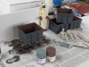 6192 -- 16mm mine wagons and a couple of figures