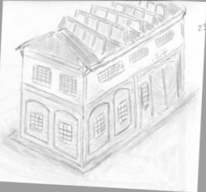 sketch on factory building