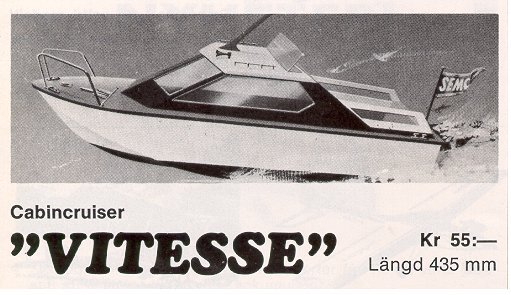Vitesse Cabin Cruiser with same hull as the Day Cruiser kit.